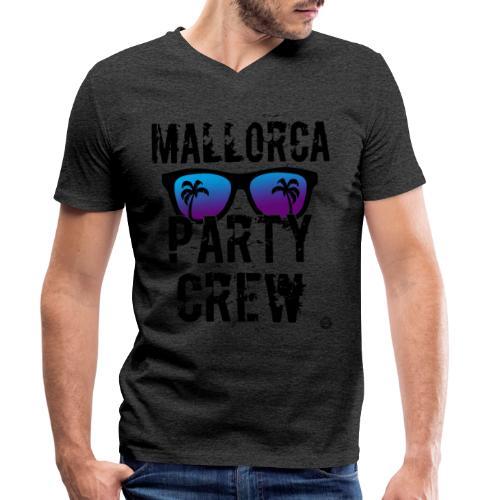 MALLE PARTY CREW Shirt - Mallorca Overhemden 2019 - Mannen bio T-shirt met V-hals van Stanley & Stella