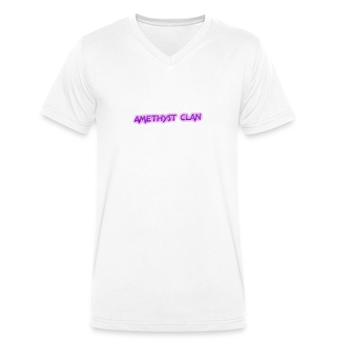 Amethyst Clan Merch - Men's Organic V-Neck T-Shirt by Stanley & Stella