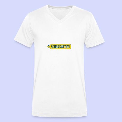 scubasweden logo - Ekologisk T-shirt med V-ringning herr från Stanley & Stella