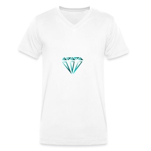 diamante - T-shirt ecologica da uomo con scollo a V di Stanley & Stella