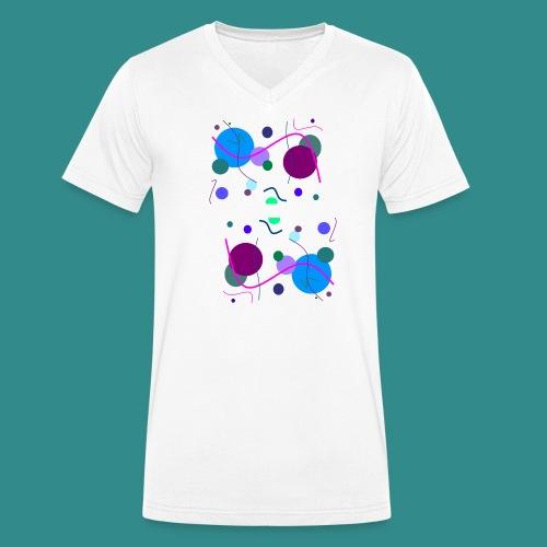 Fröhliche Grafik - Männer Bio-T-Shirt mit V-Ausschnitt von Stanley & Stella