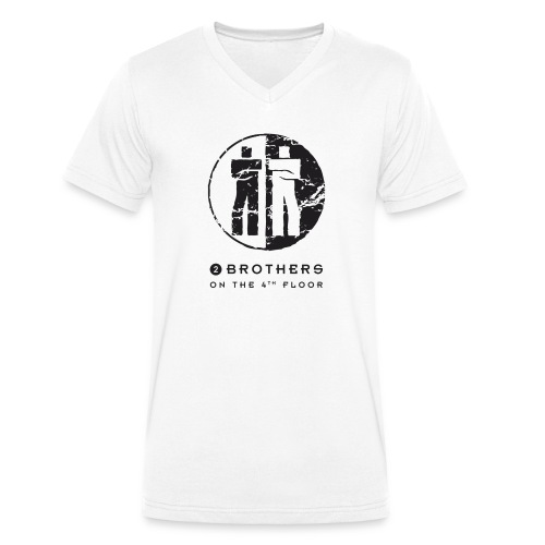 2 Brothers Black text - Men's Organic V-Neck T-Shirt by Stanley & Stella