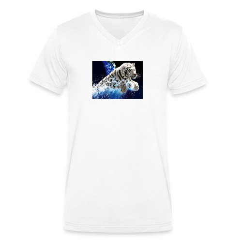 tigern - Økologisk Stanley & Stella T-shirt med V-udskæring til herrer