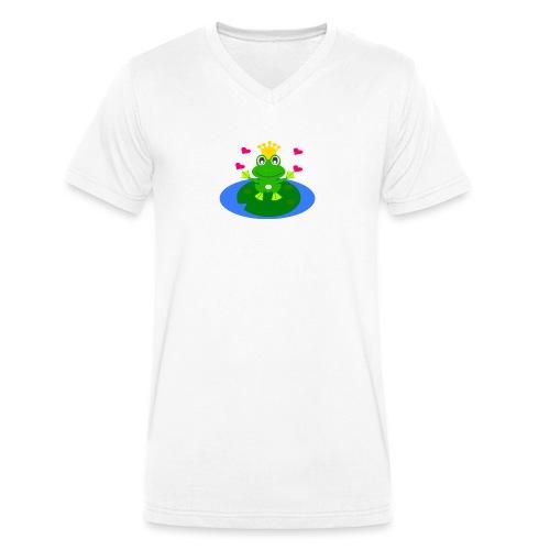 Froschkönig mit Händen - Männer Bio-T-Shirt mit V-Ausschnitt von Stanley & Stella
