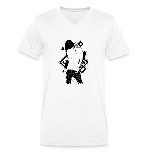 beautiful back - Männer Bio-T-Shirt mit V-Ausschnitt von Stanley & Stella