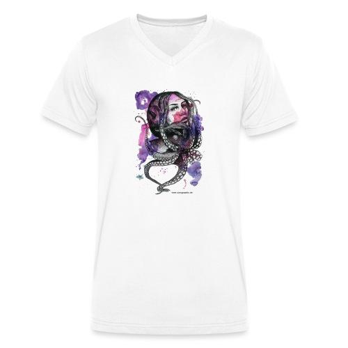 octopus oktopus portrait by carographic - Männer Bio-T-Shirt mit V-Ausschnitt von Stanley & Stella