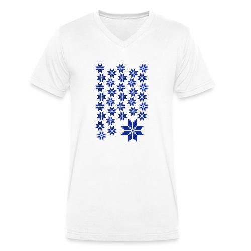 33 Schneeflocken Norweger Muster - Männer Bio-T-Shirt mit V-Ausschnitt von Stanley & Stella