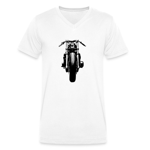 Motorcycle Front - Men's Organic V-Neck T-Shirt by Stanley & Stella