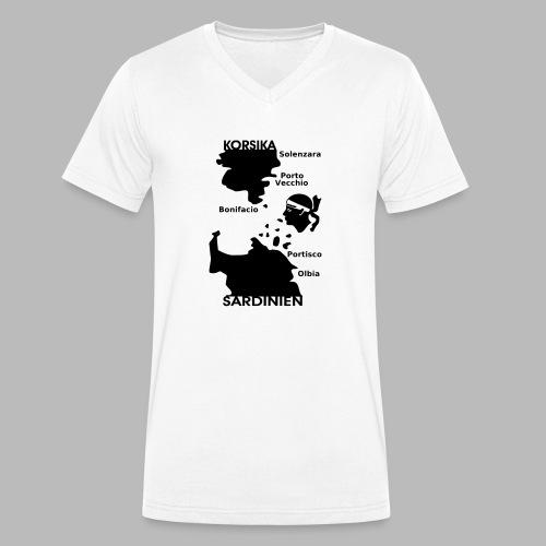 Korsika Sardinien Mori - Männer Bio-T-Shirt mit V-Ausschnitt von Stanley & Stella