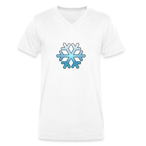 Schneeflocke - Männer Bio-T-Shirt mit V-Ausschnitt von Stanley & Stella