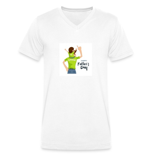 Pngtree precious happy moment with superdad 35709 - T-shirt bio col V Stanley & Stella Homme