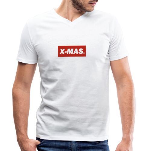 X Mas - Men's Organic V-Neck T-Shirt by Stanley & Stella