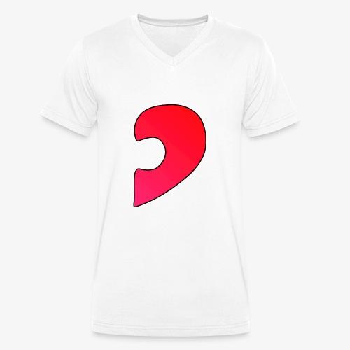 Herz Puzzle Partnerlook B - Männer Bio-T-Shirt mit V-Ausschnitt von Stanley & Stella