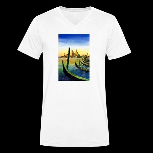 Venedig Sonnenuntergang. San Giorgio - Männer Bio-T-Shirt mit V-Ausschnitt von Stanley & Stella