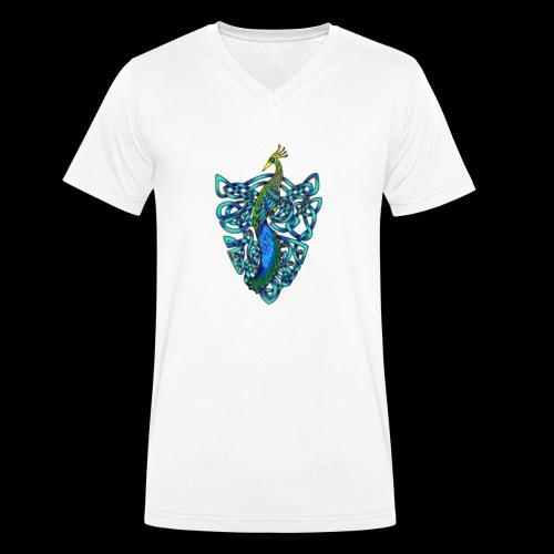 Peacock - Men's Organic V-Neck T-Shirt by Stanley & Stella