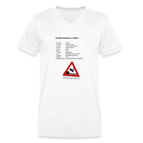 Menschenleben in Zahlen - Männer Bio-T-Shirt mit V-Ausschnitt von Stanley & Stella