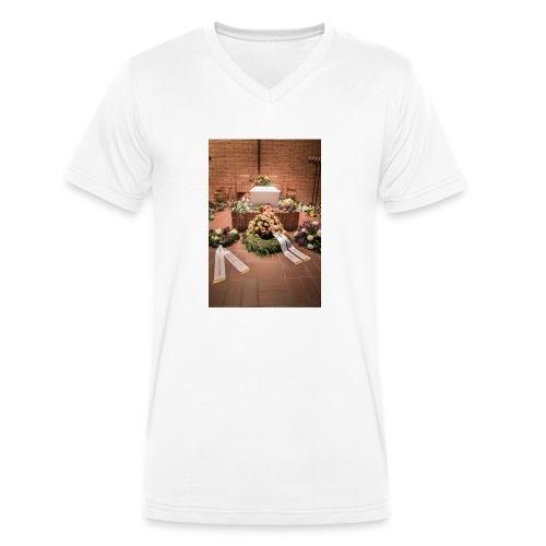 Begravelse - Økologisk Stanley & Stella T-shirt med V-udskæring til herrer