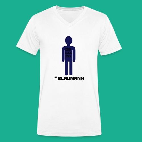 Blaumann - Männer Bio-T-Shirt mit V-Ausschnitt von Stanley & Stella