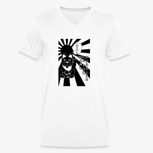Maneki neko Winkekatze - Männer Bio-T-Shirt mit V-Ausschnitt von Stanley & Stella