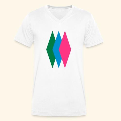 Rauten - Männer Bio-T-Shirt mit V-Ausschnitt von Stanley & Stella