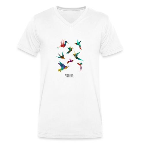 Vogelfrei - Männer Bio-T-Shirt mit V-Ausschnitt von Stanley & Stella