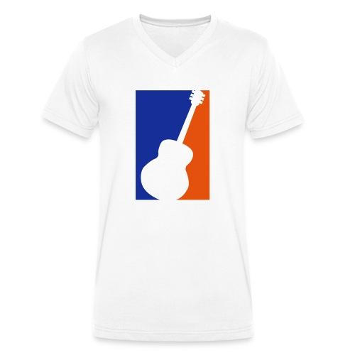 Gitarre (Baseball Style) - Männer Bio-T-Shirt mit V-Ausschnitt von Stanley & Stella