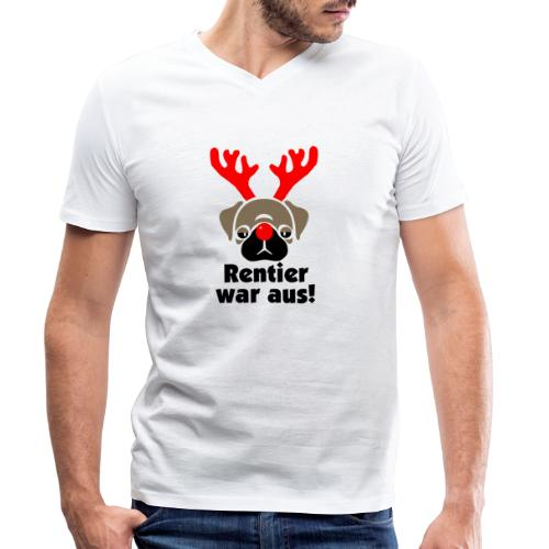 Rentier war aus - Männer Bio-T-Shirt mit V-Ausschnitt von Stanley & Stella