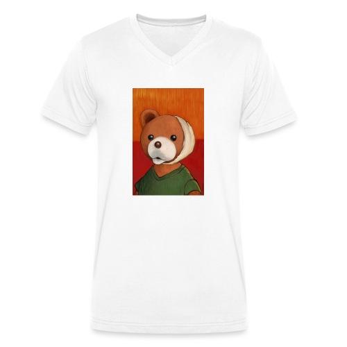 VINCENT VAN MIŚ - Ekologiczna koszulka męska z dekoltem w serek Stanley & Stella