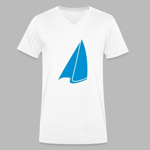 Segel Einfarbig - Männer Bio-T-Shirt mit V-Ausschnitt von Stanley & Stella