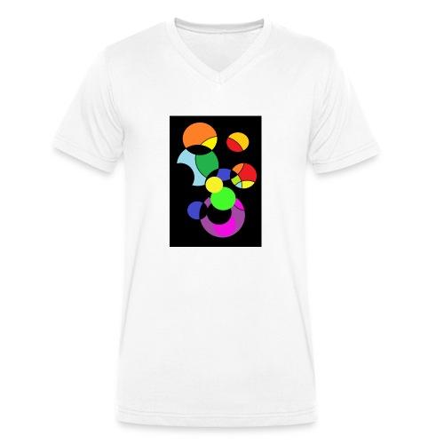 circles - Camiseta ecológica hombre con cuello de pico de Stanley & Stella