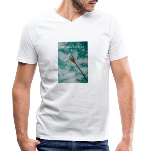 Alexa accendi la luce - T-shirt ecologica da uomo con scollo a V di Stanley & Stella