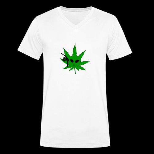 Alien Weed - Men's Organic V-Neck T-Shirt by Stanley & Stella