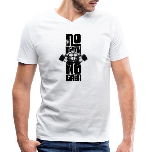 No Pain Logo Black (Stencil Version) - Camiseta ecológica hombre con cuello de pico de Stanley & Stella