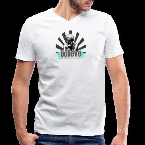 believe 3 - Männer Bio-T-Shirt mit V-Ausschnitt von Stanley & Stella