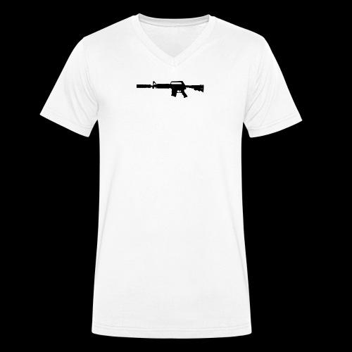 VanityDesigns Black M4 - Økologisk Stanley & Stella T-shirt med V-udskæring til herrer