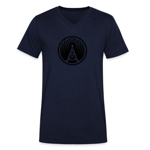 icon piratenradio claim pos klein - Männer Bio-T-Shirt mit V-Ausschnitt von Stanley & Stella