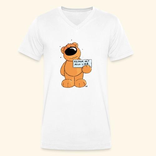 chris bears Keiner hat mich lieb - Männer Bio-T-Shirt mit V-Ausschnitt von Stanley & Stella