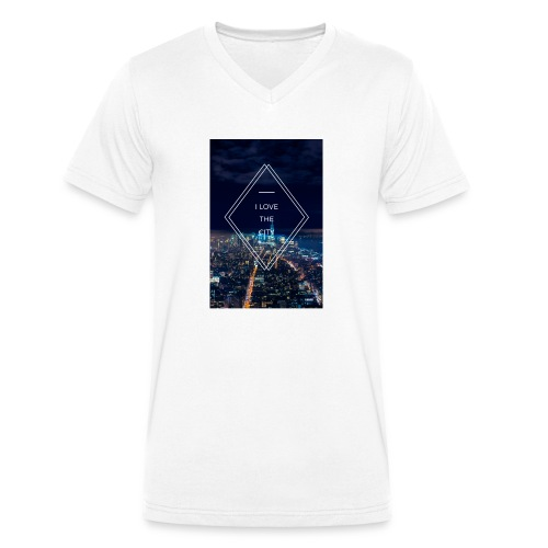 I LOVE THE CITY ! - Männer Bio-T-Shirt mit V-Ausschnitt von Stanley & Stella
