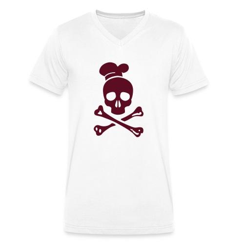 cannibal cook vector - Männer Bio-T-Shirt mit V-Ausschnitt von Stanley & Stella
