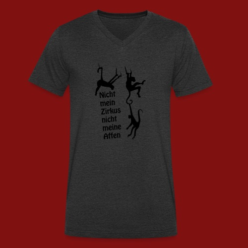 Nicht mein Zirkus - Männer Bio-T-Shirt mit V-Ausschnitt von Stanley & Stella