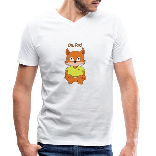 Oh, Fox! Cute mug - Men's Organic V-Neck T-Shirt by Stanley & Stella