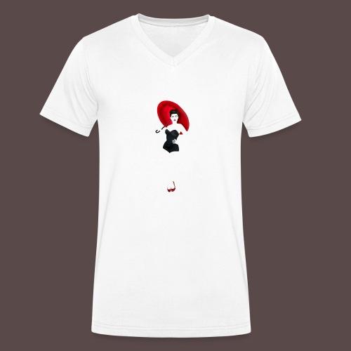Pin up - Red Umbrella - T-shirt ecologica da uomo con scollo a V di Stanley & Stella