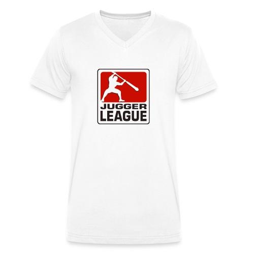 Jugger LigaLogo - Männer Bio-T-Shirt mit V-Ausschnitt von Stanley & Stella