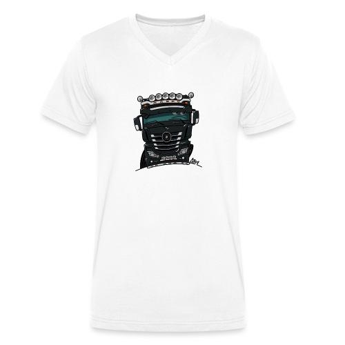 0807 M truck zwarter - Mannen bio T-shirt met V-hals van Stanley & Stella