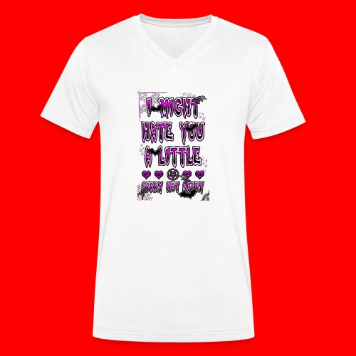 HATER - Men's Organic V-Neck T-Shirt by Stanley & Stella