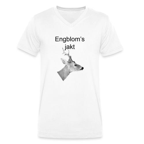 Officiell logo by Engbloms jakt - Ekologisk T-shirt med V-ringning herr från Stanley & Stella