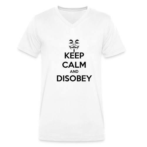 keep calm and disobey thi - T-shirt bio col V Stanley & Stella Homme