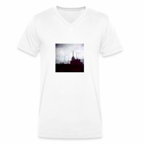 Original Artist design * Battersea - Men's Organic V-Neck T-Shirt by Stanley & Stella