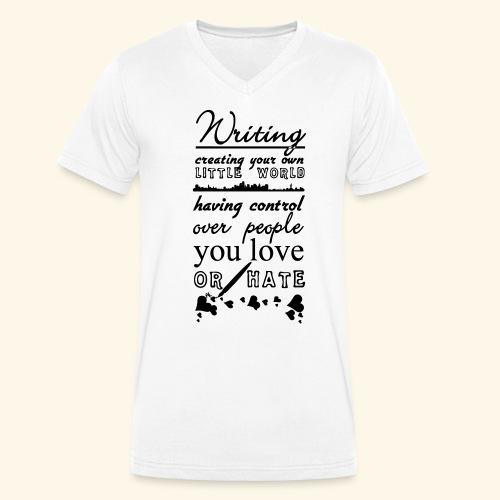 Writing - Men's Organic V-Neck T-Shirt by Stanley & Stella