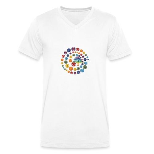 Espiral de Chakras - Camiseta ecológica hombre con cuello de pico de Stanley & Stella